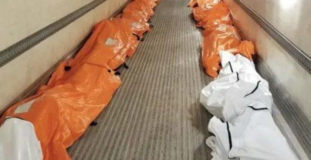 """ممرضة أمريكية تُسرب صورة تظهر حجم مأساة تفشي """"كورونا"""" في نيويورك"""