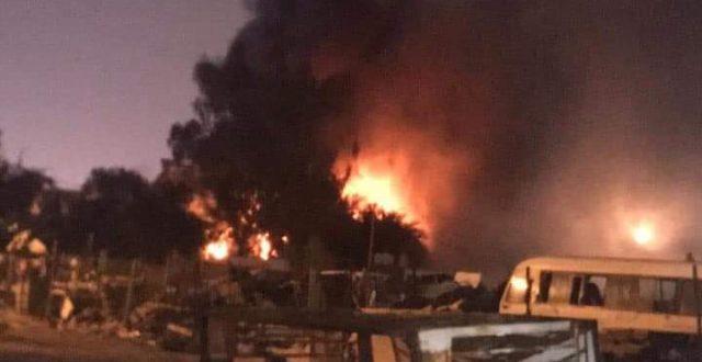 اندلاع حريق في مقر حركة النجباء في محافظة النجف