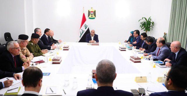 عبد المهدي يترأس اجتماعاً لخلية أزمة كورونا ويؤكد ضرورة تنفيذ قراراتها في عموم العراق