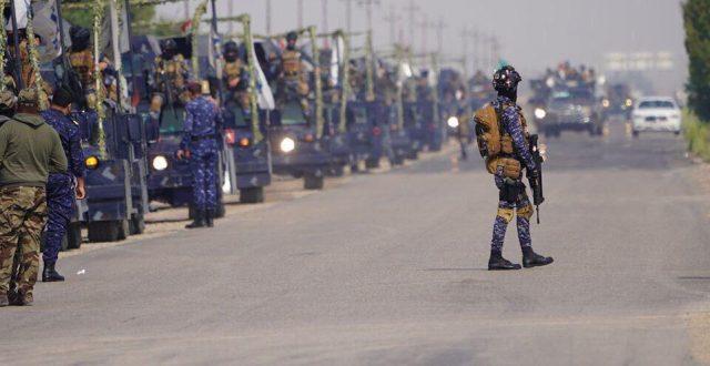 بالصور.. وصول قوة أمنية لتعزيز إجراءات فرض حظر التجوال في واسط