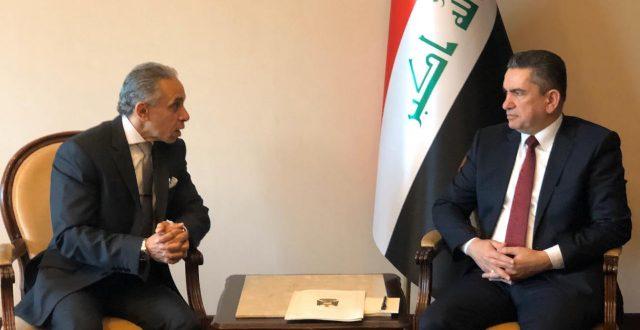 رئيس الوزراء المكلف عدنان الزرفي يستقبل السفير المصري