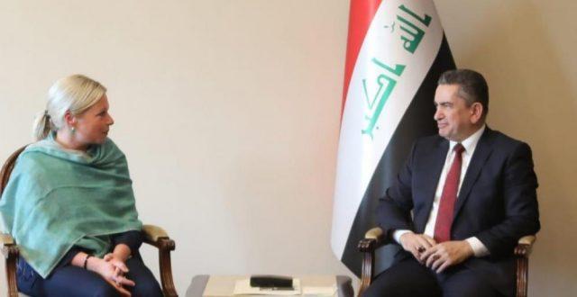 عدنان الزرفي يؤكد للممثلة الامم المتحدة بلاسخارات عزمه في اجراء انتخابات في اسرع وقت