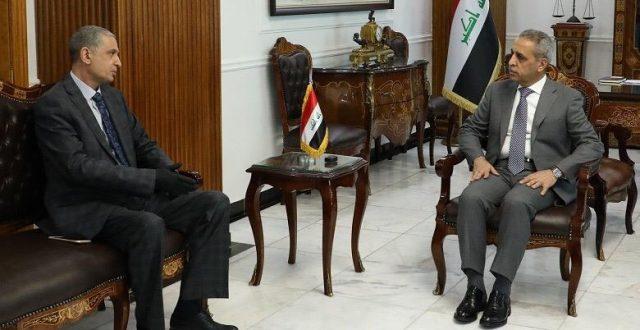 رئيس القضاء يبحث مع وزير الداخلية تطبيق القانون ومكافحة الجريمة