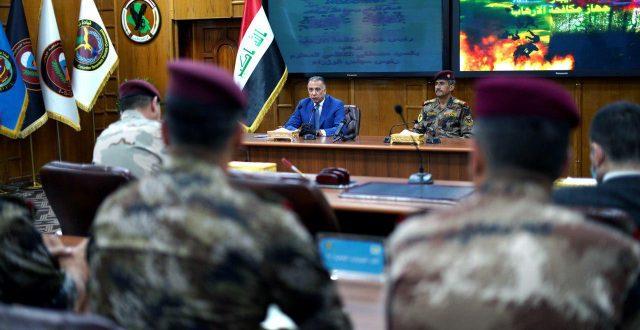 رئيس مجلس الوزراء القائد العام للقوات المسلحة مصطفى الكاظمي يزور مقر جهاز مكافحة الارهاب
