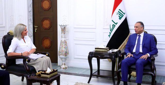 رئيس مجلس الوزراء مصطفى الكاظمي يستقبل الممثلة الخاصة للأمين العام للأمم المتحدة في العراق