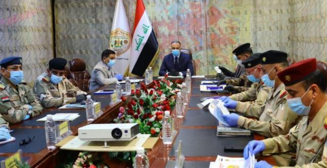 الكاظمي خلال لقائه عدد من المسؤولين العسكريين: ليس من حق أي قوة أن تكون خارج إطار الدولة