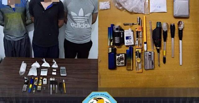 نصب كمين أمني والقبض على متاجرين بالمخدرات والكرستال في الرميثة