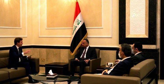 رئيس مجلس الوزراء السيد مصطفى الكاظمي يتسلّم رسالة خطية من نظيره البريطاني