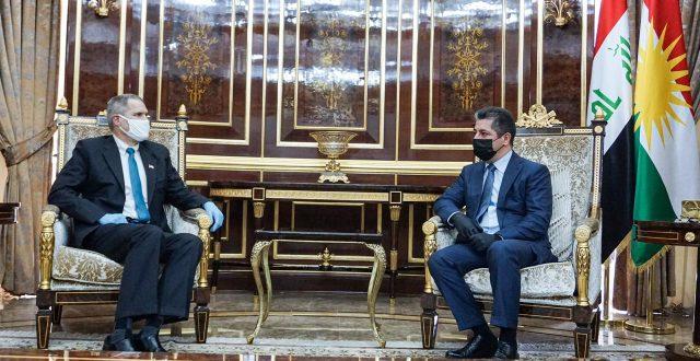 بارزاني يستقبل السفير الأمريكي والأخير يؤكد: الحوار بين واشنطن وبغداد سينطلق بمشاركة الاقليم