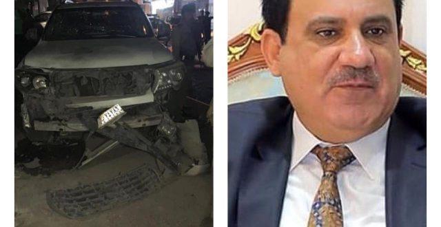 بالصور.. إستهداف رئيس اتحاد الغرف التجارية في العراق بعبوة صوتية وسط الناصرية