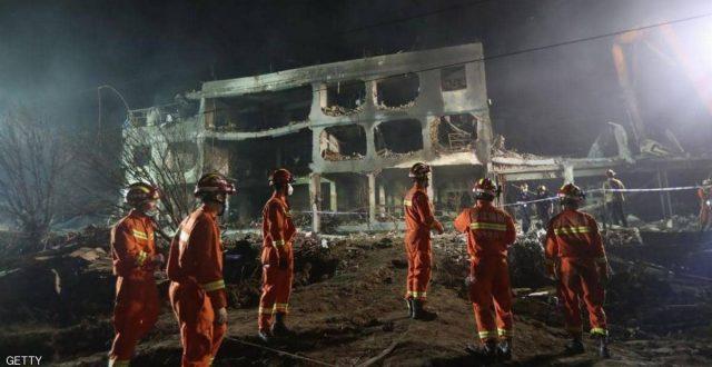مقتل وإصابة أكثر من 218 شخصا وانهيار منازل ومصانع بانفجار هائل في الصين