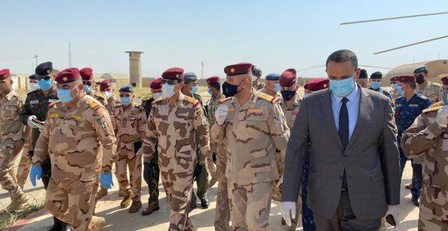 وصول رئيس اركان الجيش العراقي الفريق الركن عبد الامير  رشيد يار الله الى كركوك