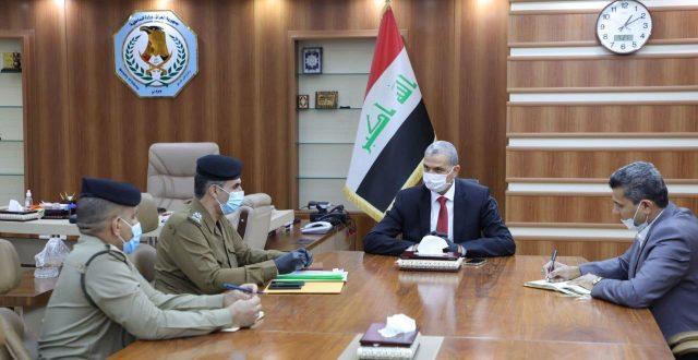 وزير الداخلية يلتقي بقائدي شرطة محافظتي النجف الأشرف والمثنى الجديد