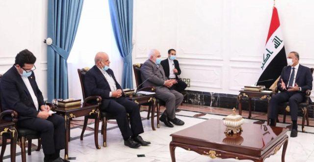 الكاظمي يستقبل وزير الخارجية الإيراني والأخير يؤكد: مهتمون بزيارتك المرتبقة لإيران