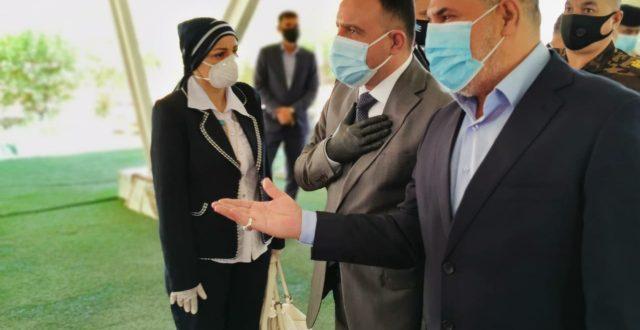 بالصورة.. وصول وزير الصحة إلى المثنى