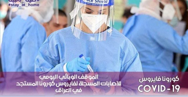 وزارة الصحة والبيئة هذا اليوم ( 1796) أصابة و1724 حالة شفاء في العراق