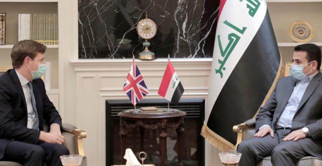 مستشار الأمن الوطني يلتقي السفير البريطاني في العراق