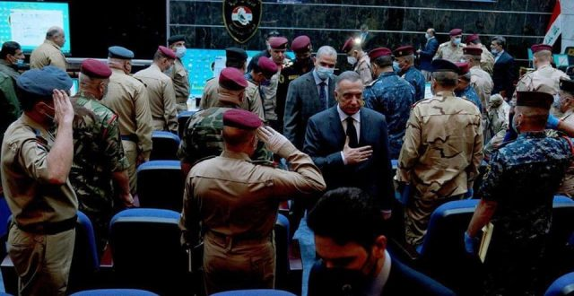 بالصور ..الكاظمي يزور مقر الشرطة الاتحادية