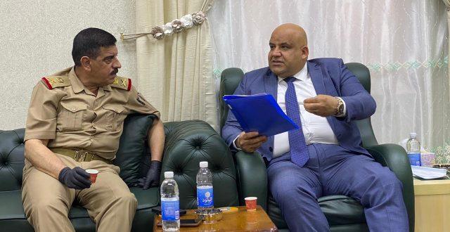 محافظ صلاح الدين يبحث مع رئيس اركان العمليات المشتركة  اسباب تكرار الخروقات الارهابية في الدجيل