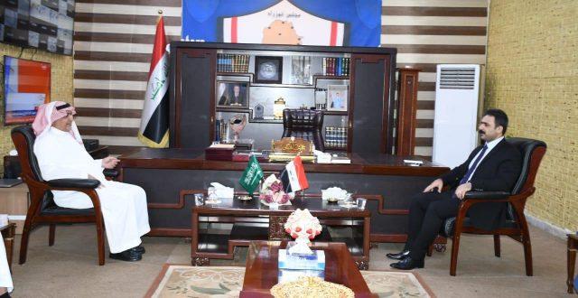 المنافذ الحودية والسفير السعودي يبحثان إستعدادت افتتاح منفذ عرعر الحدودي