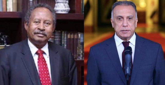 رئيس الوزراء السوداني يشكر الكاظمي على موقف العراق في دعم السودان بازمة الفيضانات