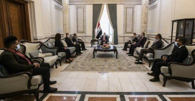 برهم صالح يستقبل اعضاء ورئيس مجلس امناء شبكة الاعلام العراقي