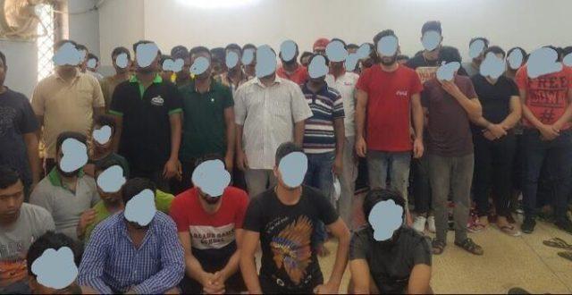 اعتقال 83 شخصا من جنسيات اجنبية مخالفين لقانون الاقامة العراقي