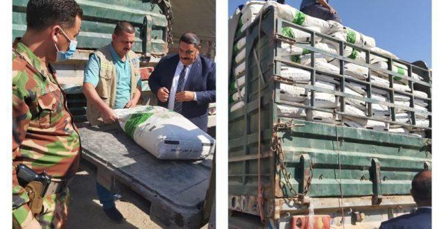الكمارك تعيد إصدار أرسالية مواد غذائية مستوردة مخالفة في مركز كمرك طريبيل الحدودي