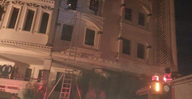 اندلاع حريق في احد فنادق كربلاء