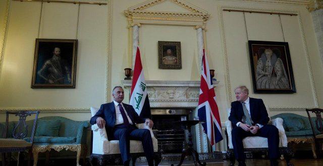 الكاظمي يلتقي في العاصمة البريطانية لندن رئيس الوزراء البريطاني بوريس جونسون
