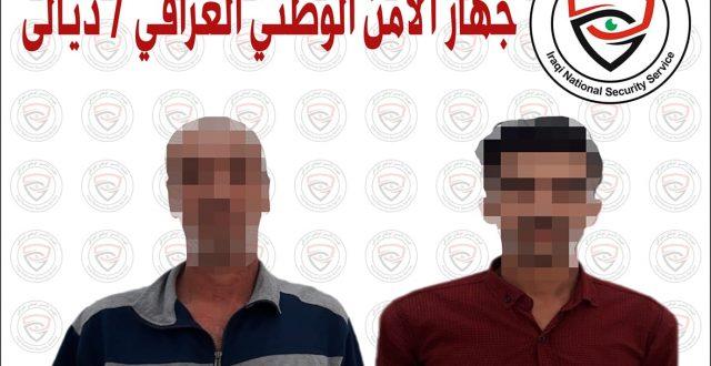 الأمن الوطني يلقي القبض على عنصرين من المفارز الأمنية الإرهابية في ديالى