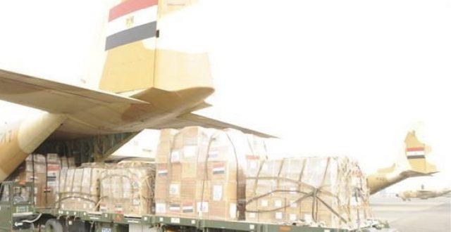 وصول طائرة مصرية الى بغداد محملة بـ 15 طناً من المساعدات الطبية