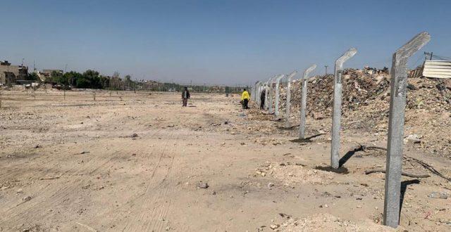 امانة بغداد تحويل ساحة بمساحة ٦ دونم الى متنزه نموذجي بمدينة الصدر