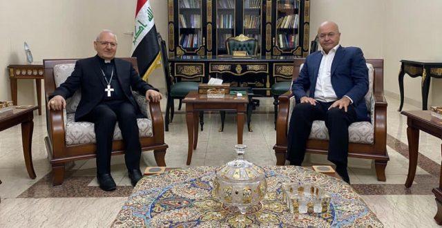 صالح يؤكد ضرورة عودة جميع النازحين المسيحيين الى مناطقهم في سهل نينوى