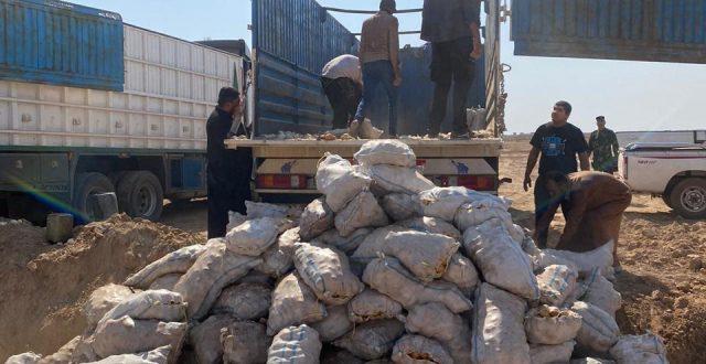 المنافذ تعلن اتلاف ارسالية مادة البطاطا حفاظا ودعما للمنتج المحلي في منفذ الشيب الحدودي