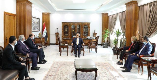 """رئيس مجلس القضاء الأعلى يستقبل نقيب الفنانين العراقيين """"صور"""""""