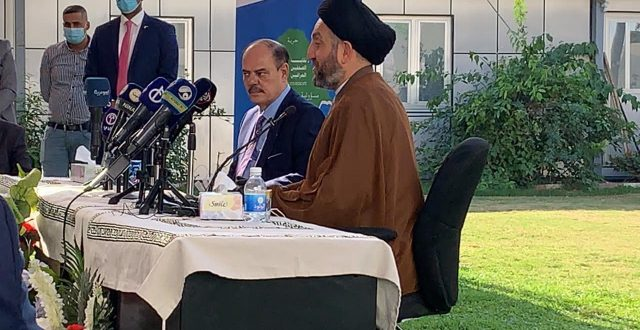 نقيب الصحفيين يستقبل عمار الحكيم في زيارة هي الاولى له الى نقابة الصحفيين