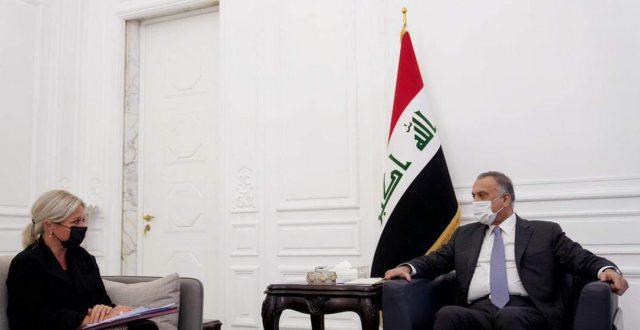 الكاظمي بحث مع بلاسخارت السبل الكفيلة لإقامة الانتخابات المبكرة في العراق في حزيران المقبل