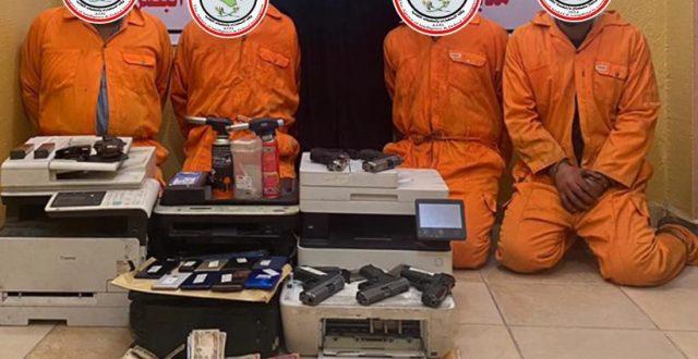 القبض على عصابة مختصة بتزييف العملة المحلية والاجنبية في البصرة