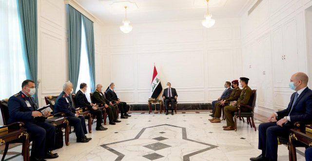 رئيس مجلس الوزراء مصطفى الكاظمي يستقبل وزير الدفاع التركي والوفد المرافق له
