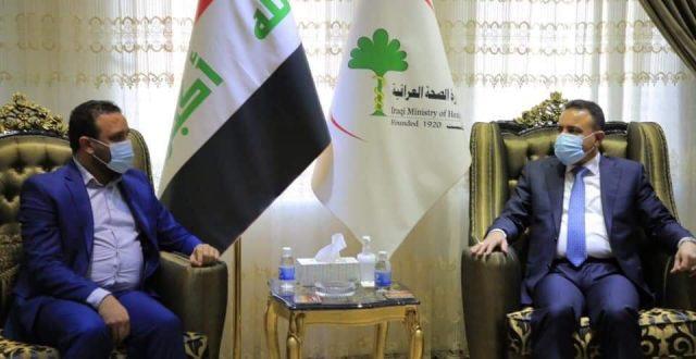 وزير الصحة والبيئة يستقبل رئيس هيئة الامناء في شبكة الاعلام العراقي ويؤكد اهمية الاعلام في التوعية الصحية وبثها للمواطنين