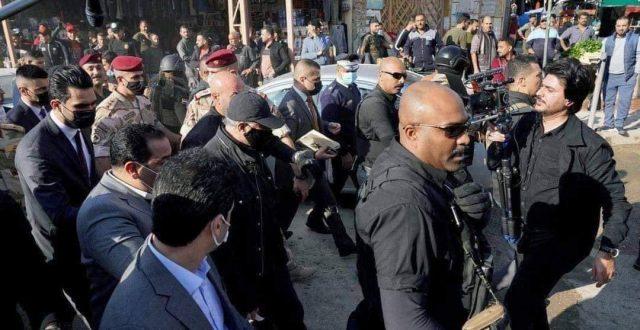 رئيس الوزراء مصطفى الكاظمي يصل الى ساحة الطيران وسط بغداد
