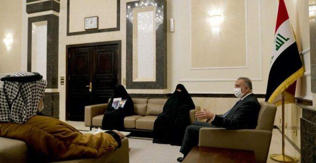 الكاظمي يستقبل عائلة شهيد تظاهرات واسط فؤاد مغماس بدن.