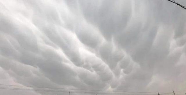 متنبئ جوي:سحب الماما {mammatus cloud} ظهرت في أجواء العاصمة بغداد هذا اليوم الجمعة