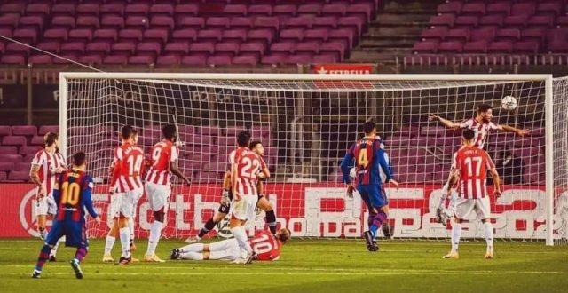 برشلونة يحقق فوزا صعبا على ضيفه أتلتيك بيلباو في الليغا