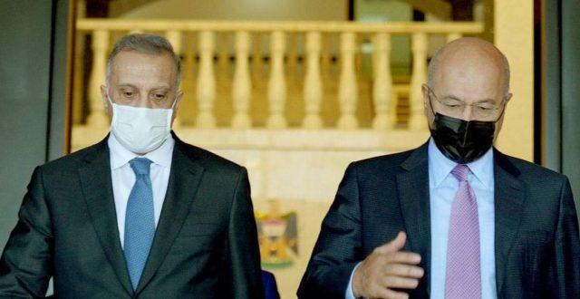 الكاظمي يبحث مع رئيس الجمهورية قضايا أمنية وسياسية عدّة