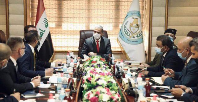 وزير الداخلية يلتقي بوفد من بعثة الاتحاد الأوروبي الاستشارية في العراق
