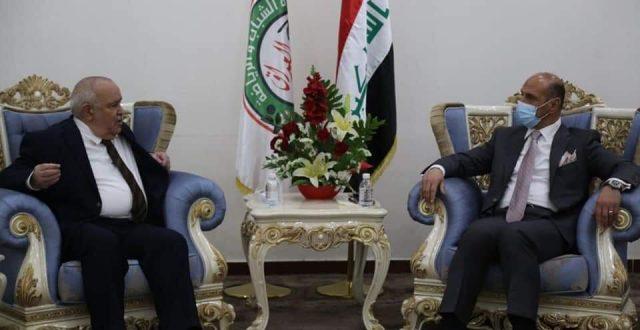 درجال يستقبل سفير جمهورية الجزائر في بغداد اليوم
