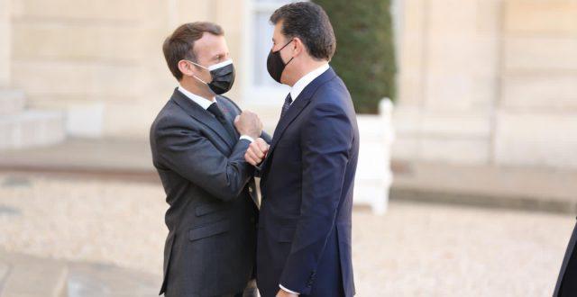 بارزاني يكشف ماناقشه مع ماكرون في باريس