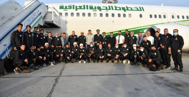 وصول وفد المنتخب الوطني العراقي إلى طشقند